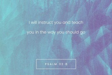 August 18th – Psalm 32:8