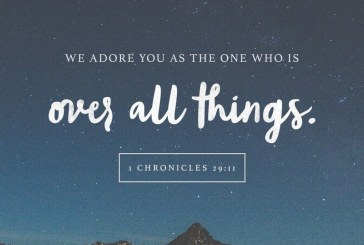 November 10th – 1 Chronicles 29:11
